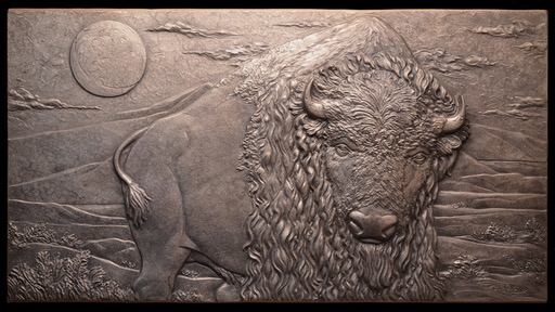 Bronze  - pebbled silver nitrate patina