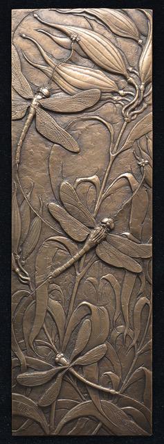 Bronze: satin, polished liver of sulfur patina